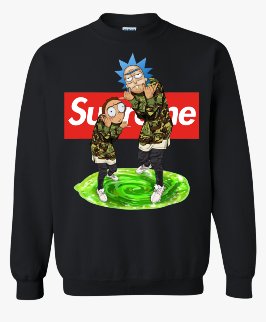 Rick And Morty Supreme Shirt, Hoodie, Tank - Rick And Morty Supreme Hoodie, HD Png Download, Free Download