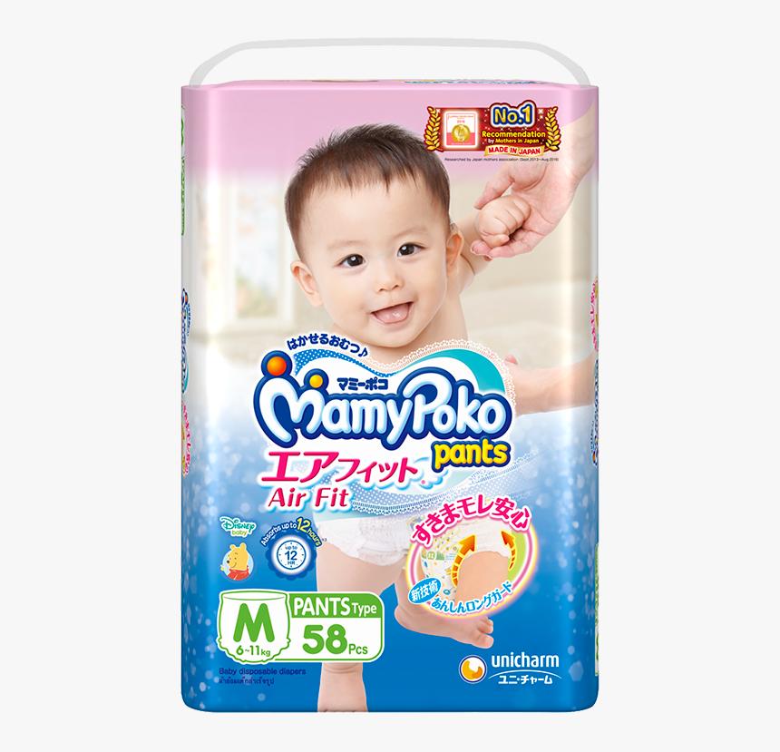 Mamypoko Pants Air Fit Diaper M - Mamy Poko Pants Airfit, HD Png Download, Free Download