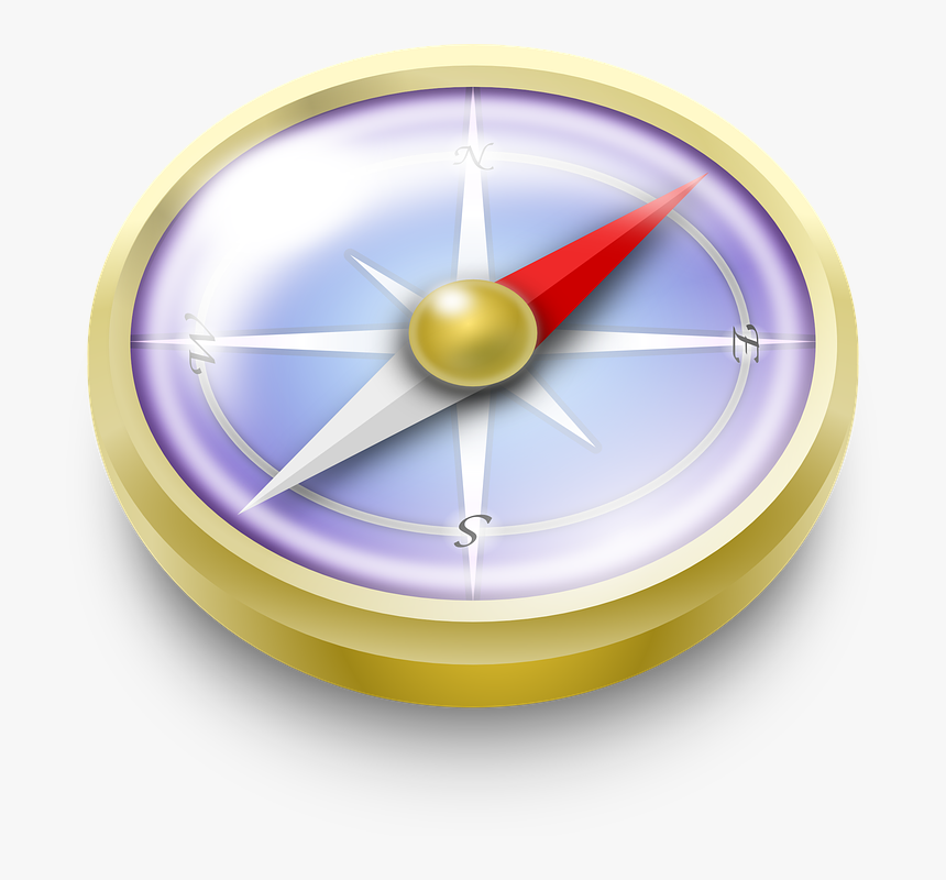 Navigation, Compass, Direction - Compass Clipart, HD Png Download, Free Download