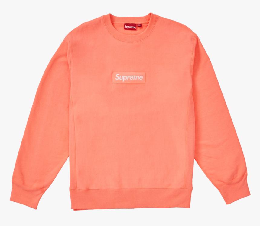 Transparent Supreme Box Logo - Box Logo Sweater Supreme 2018, HD Png Download, Free Download