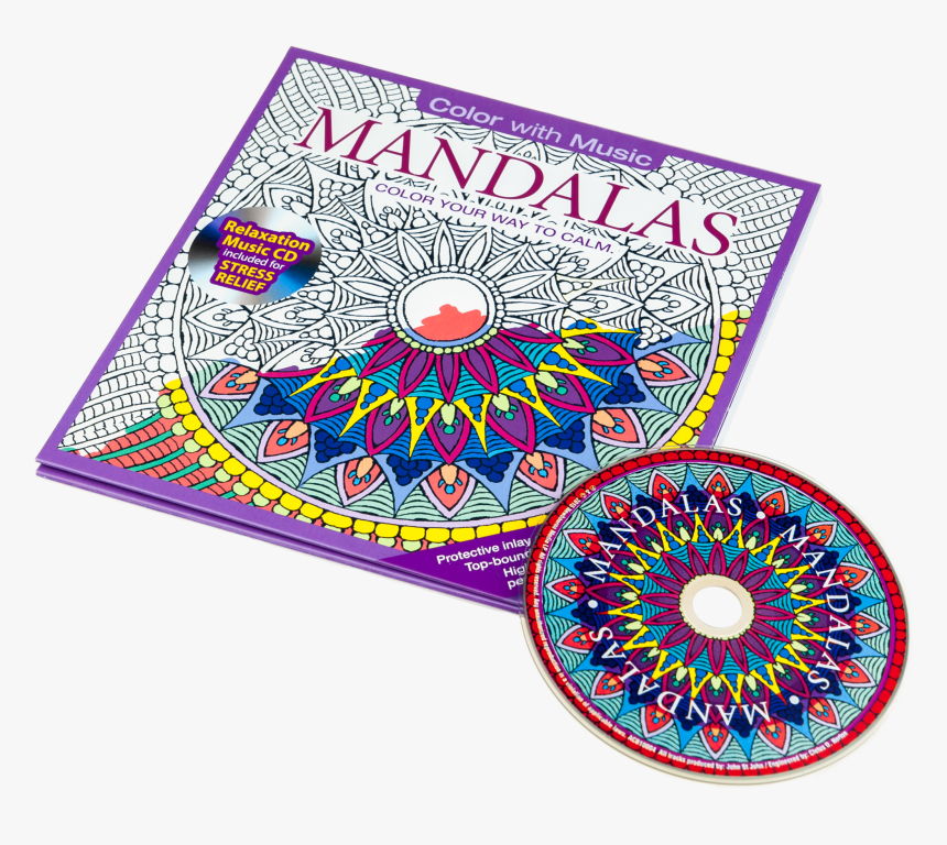 Color With Music Mandalas Adult Coloring Book - Mandalas Adult Coloring Book, HD Png Download, Free Download
