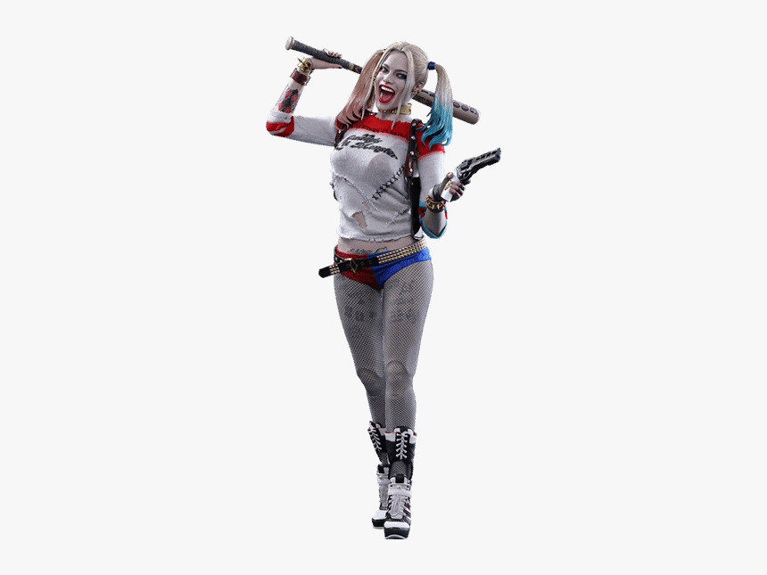 1/6 Scale Hot Toys Mms383 Suicide Squad Harley Quinn - Harley Quinn Suicidé Squad Figure, HD Png Download, Free Download