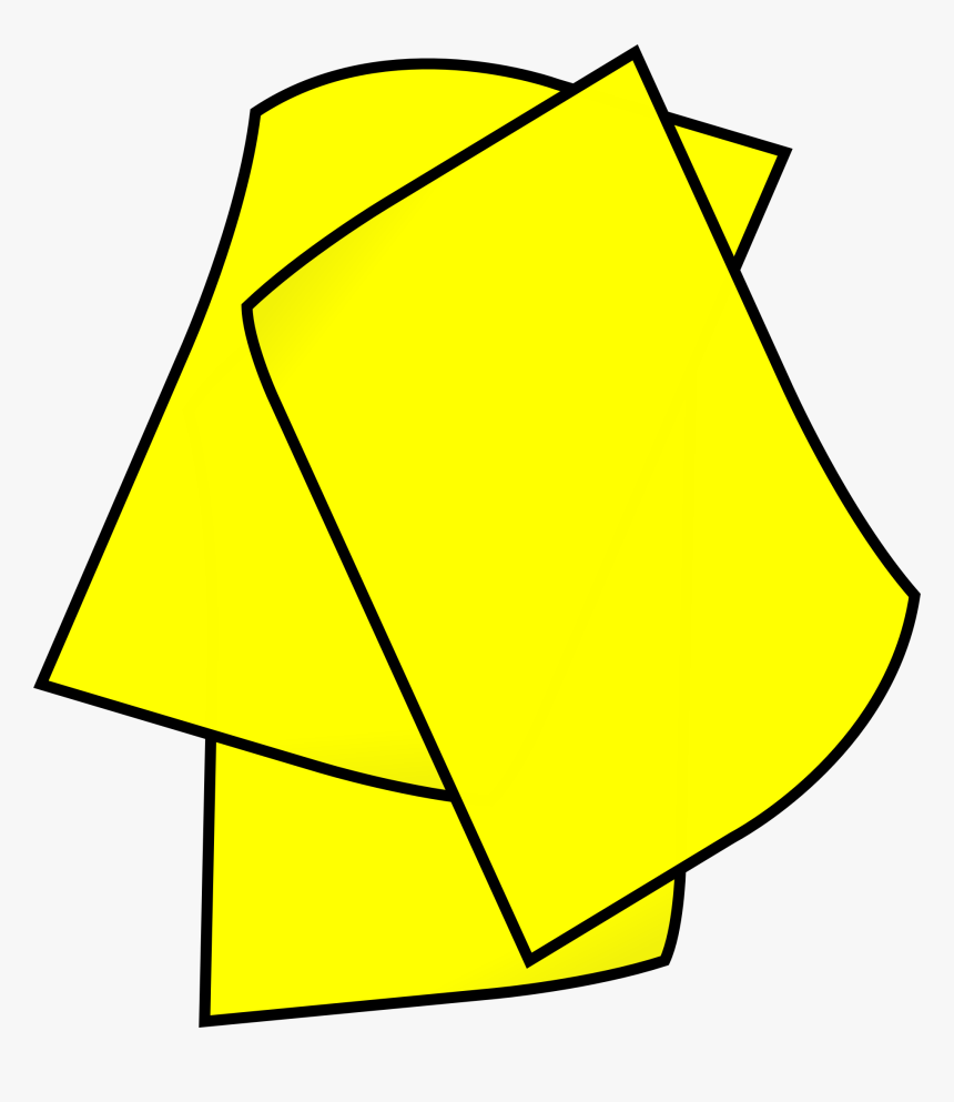 Triangle,symmetry,angle - Yellow Paper Clipart, HD Png Download, Free Download