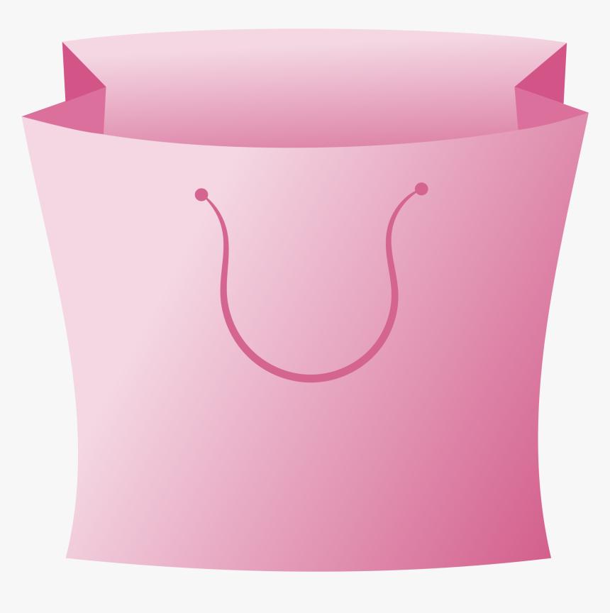 Paper Shopping Bags & Trolleys Clip Art - Shopping Bag Logo Pink, HD Png Download, Free Download