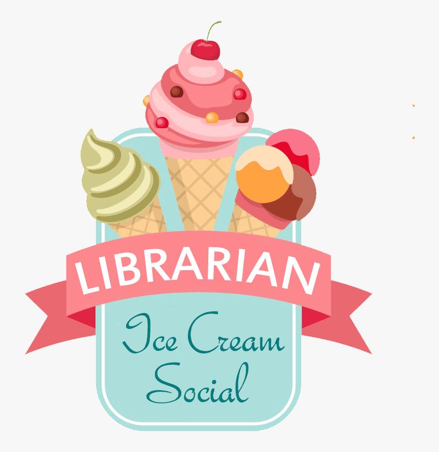 Librarian Ice Cream Social - Nombres Para Negocios De Helados, HD Png Download, Free Download