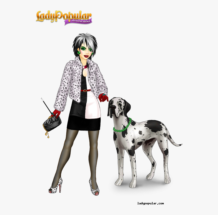 Lady Popular Cruella De Vil , Png Download - Lady Popular, Transparent Png, Free Download