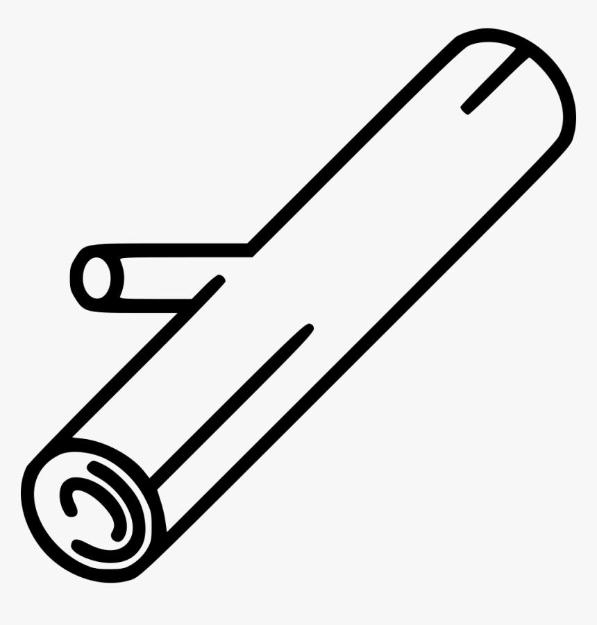 Chopped Log - Line Art, HD Png Download, Free Download