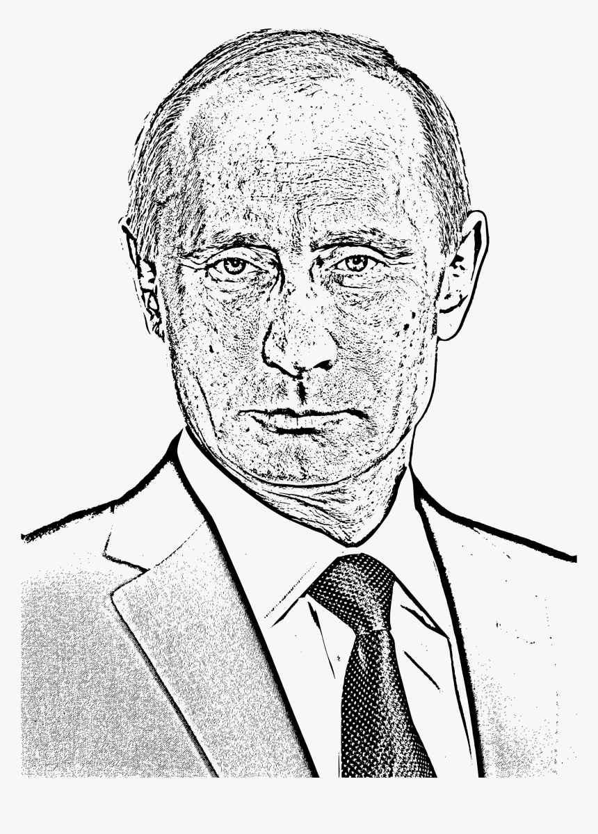 Vladimir Putin Photocopied Face Clip Arts Putin Black In White Hd Png Download Kindpng