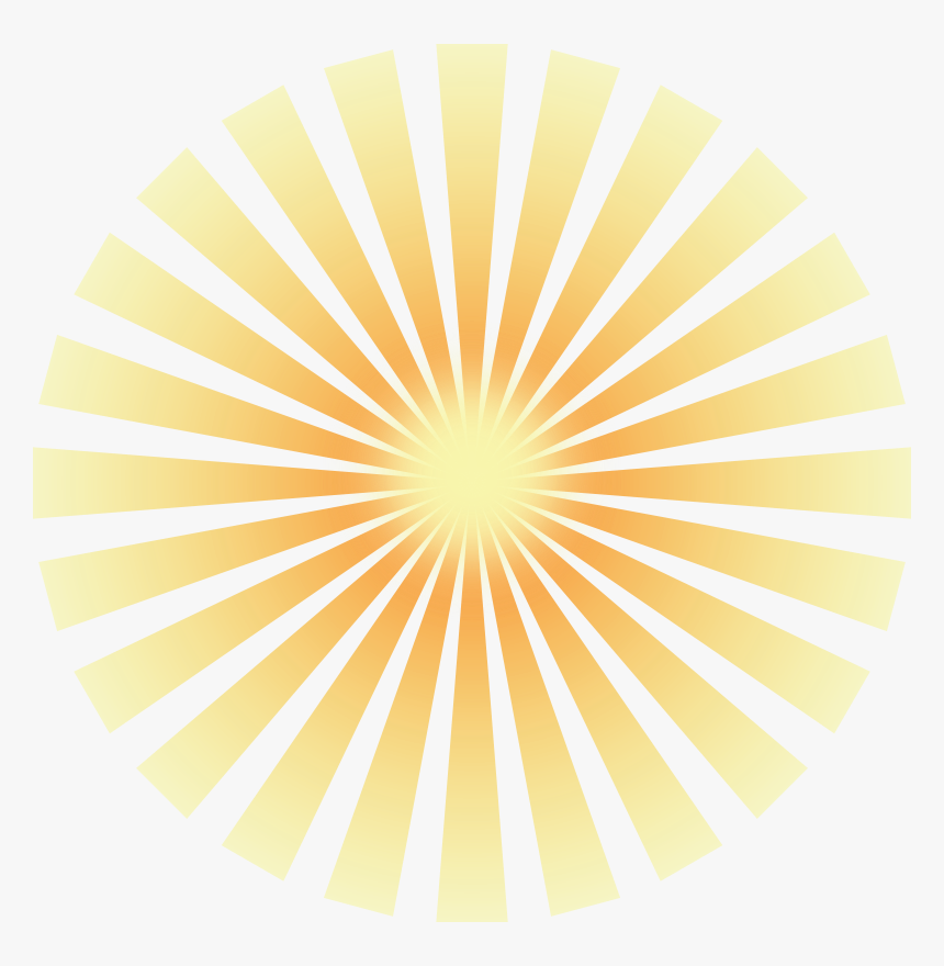 Golden Solar Rays - Sun Rays Vector Transparent, HD Png Download, Free Download