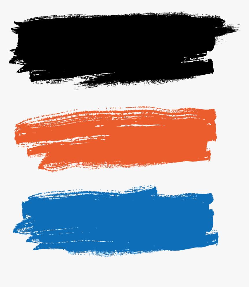 Illustration Paint Vector Brush Painting Paintbrush - Orange Paint Brush Png, Transparent Png, Free Download