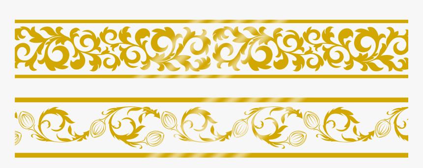 Transparent Gold Lace Clipart - Gold Border Design Png, Png Download, Free Download