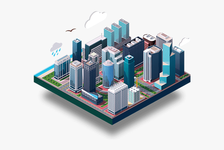 Property In Mumbai Gurgaon - City Isometric Vector, HD Png Download, Free Download