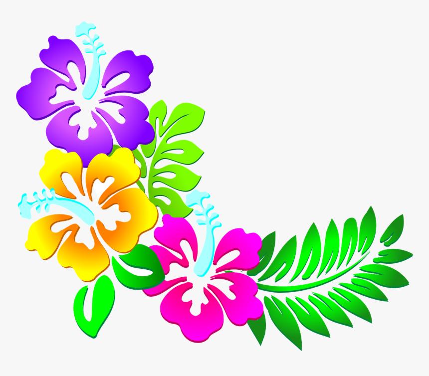 Flores, Florales, Hojas, Patrón, Frontera, Púrpura - Flower Designs For Border, HD Png Download, Free Download