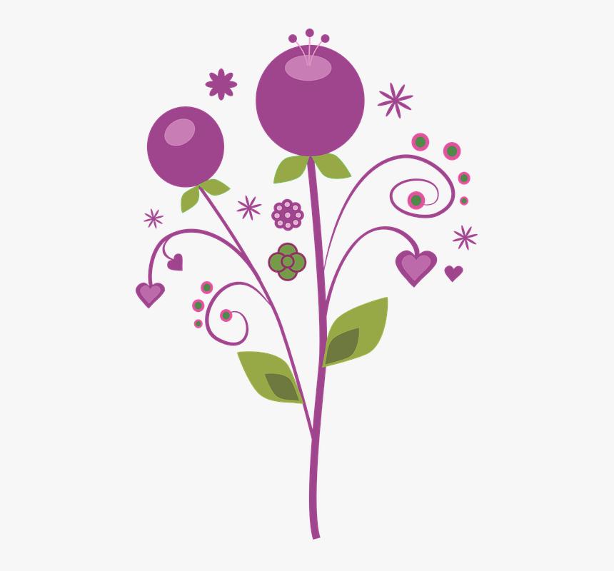 Púrpura, Vector, Flores - Vectores De Flores Png, Transparent Png, Free Download
