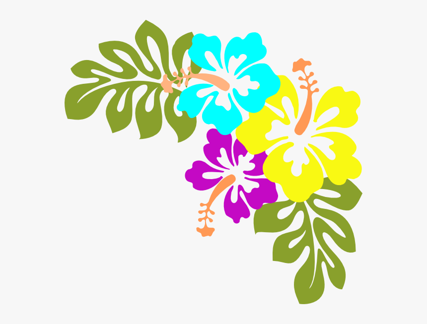 Flowers Clip Art At - Luau Flowers Clip Art, HD Png Download, Free Download