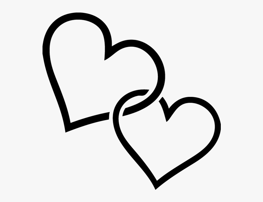 Transparent Vectores Png Negro - Two Love Heart Png, Png Download, Free Download