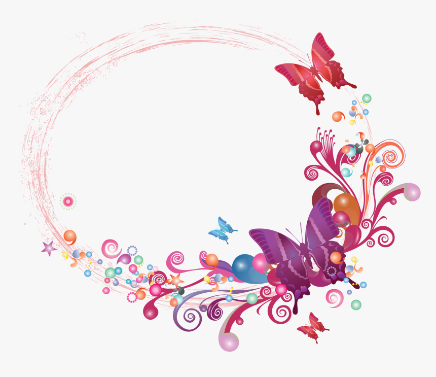 Butterfly Photo Frame Png, Transparent Png, Free Download