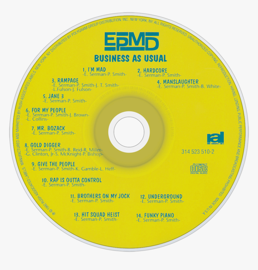 Business As Usual (1992) - Business As Usual Cd, HD Png Download, Free Download