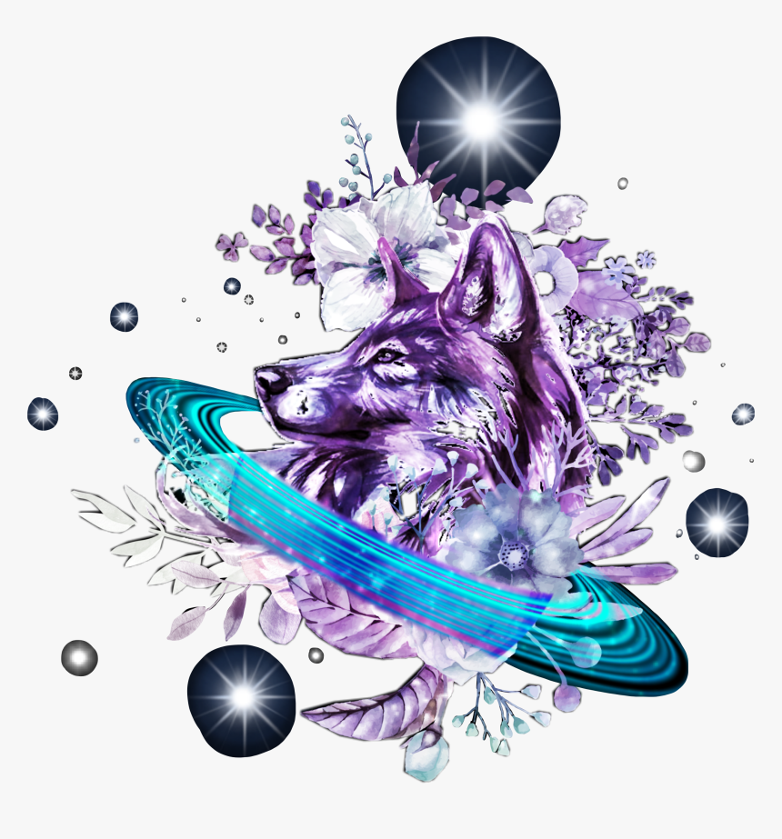 9 94436 wolf galaxy dog background hd png download