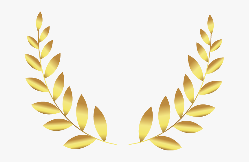 Golden Two Leaf Badge Gold Leaf Png Badge Transparent Png Kindpng