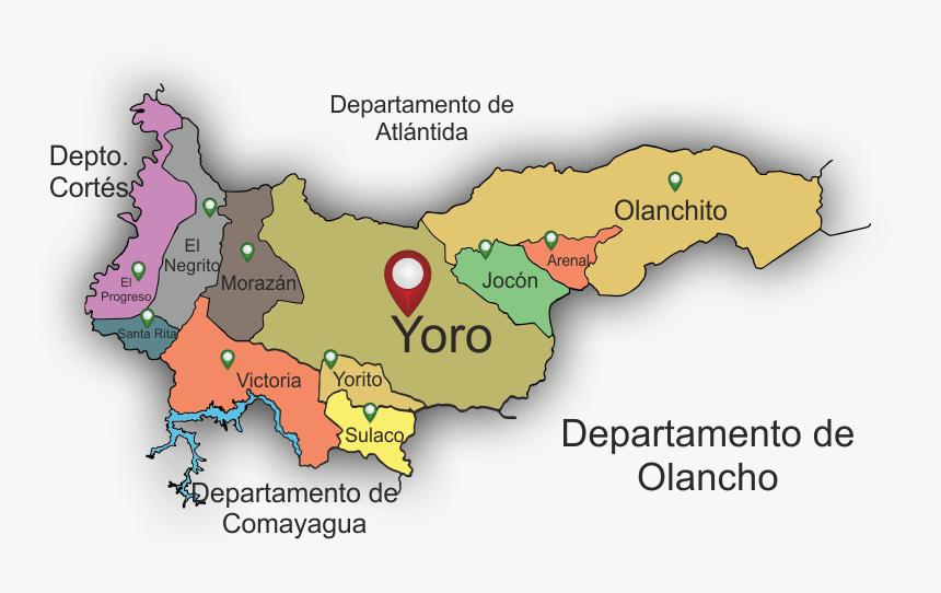 Mapa De Yoro Honduras, HD Png Download, Free Download