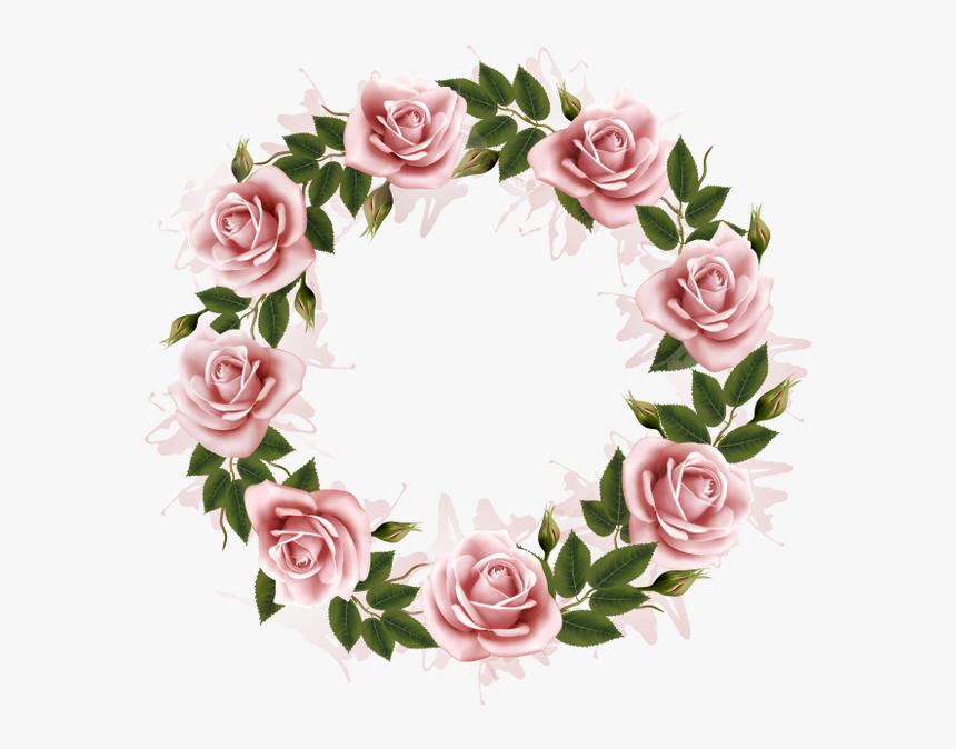 Цветочная Рамка, Рамка Для Фотошопа, Цветы, Flower - Magnolia Watercolor Wreath Vector, HD Png Download, Free Download