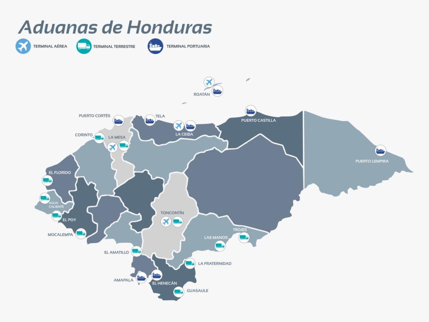 Map Of Honduras, HD Png Download, Free Download