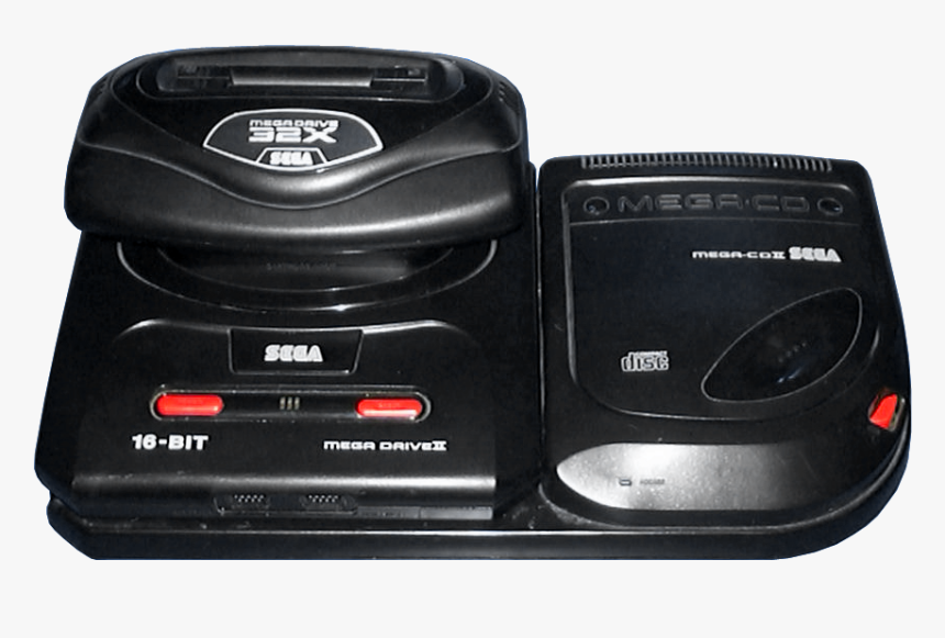 Mega Drive Ii Mega-cd Ii 32x - Mega Cd Png, Transparent Png, Free Download
