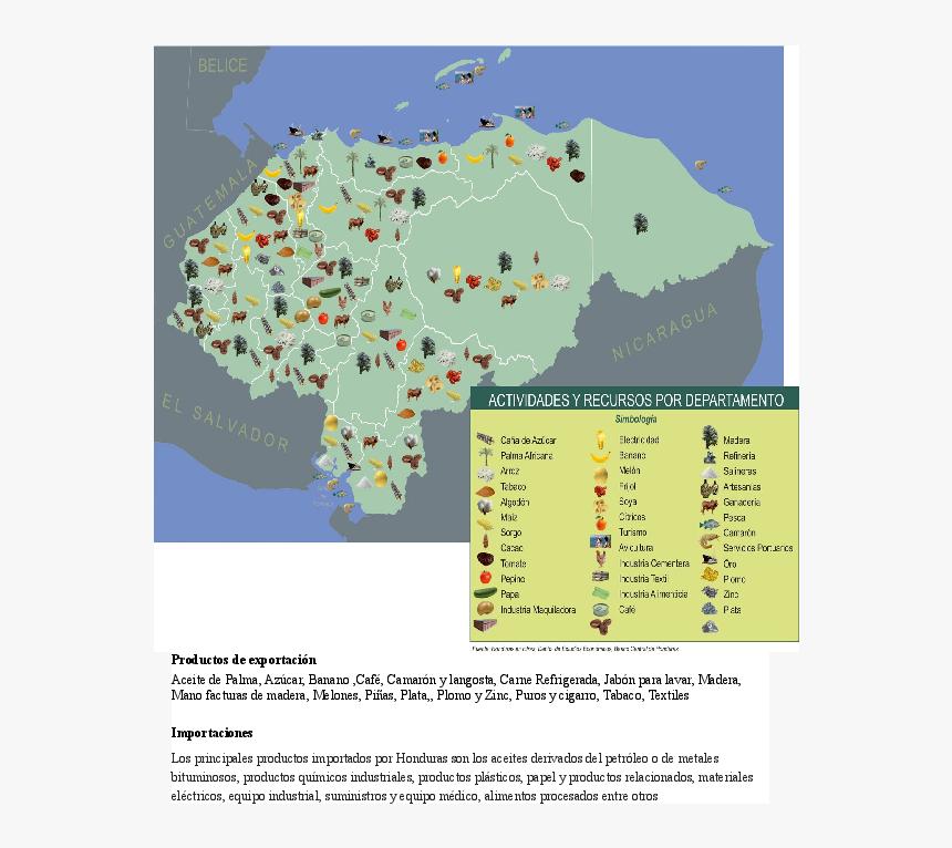 Mapa Economico De Honduras, HD Png Download, Free Download