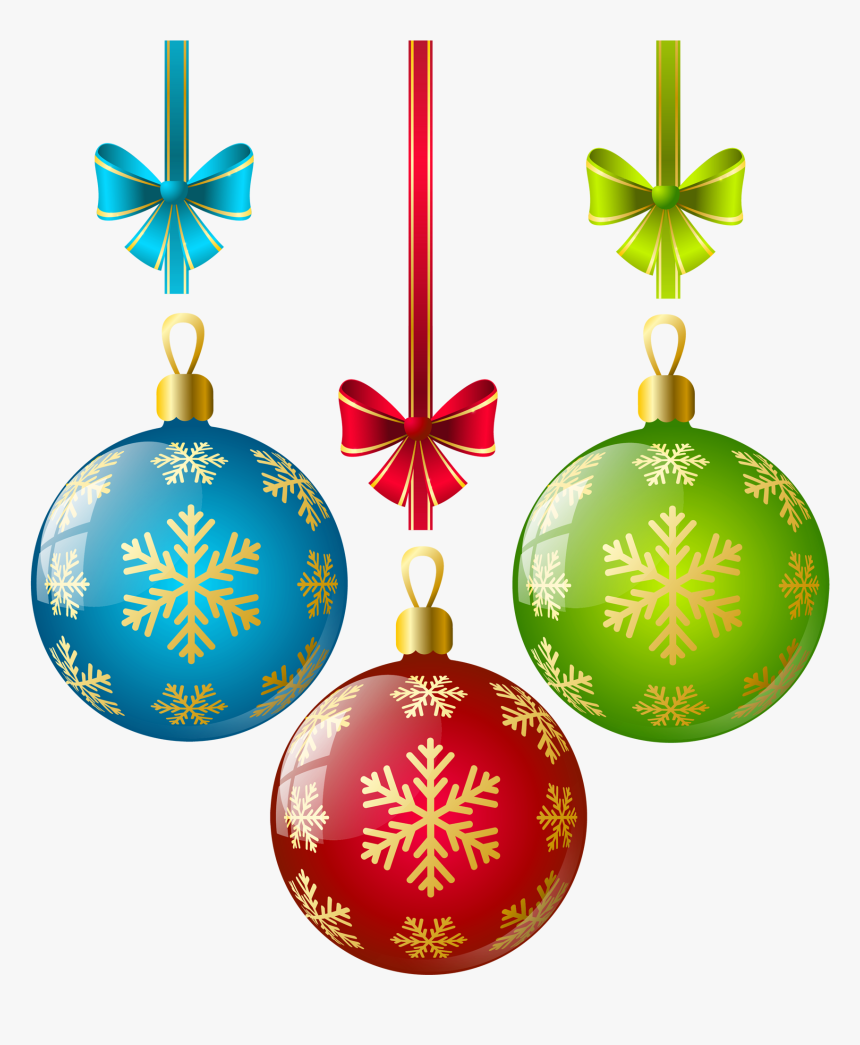 Christmas Ornament Ornaments Clipart Single Clip Art - Christmas Tree Ornaments Transparent, HD Png Download, Free Download