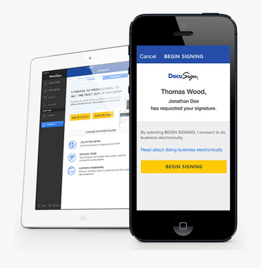 Docusign Mobile, HD Png Download, Free Download