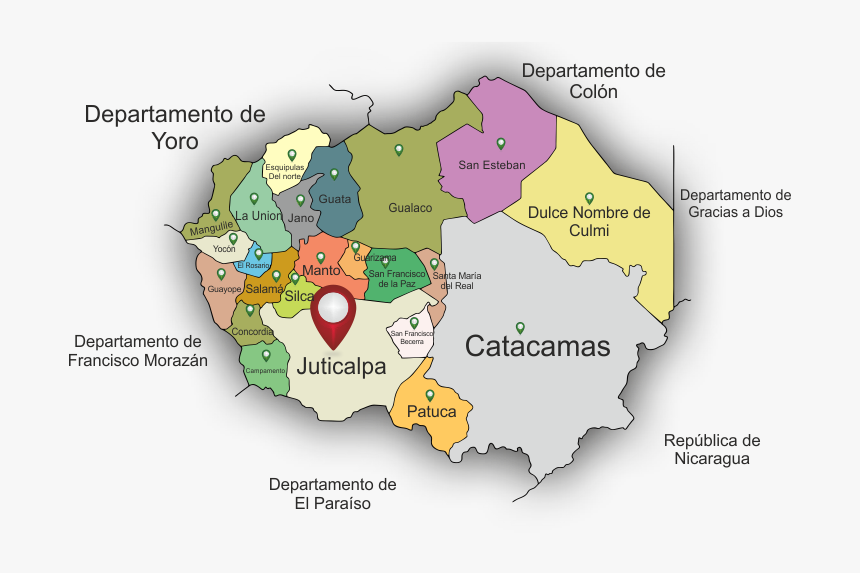 Departamento De Olancho Y Sus Municipios, HD Png Download, Free Download