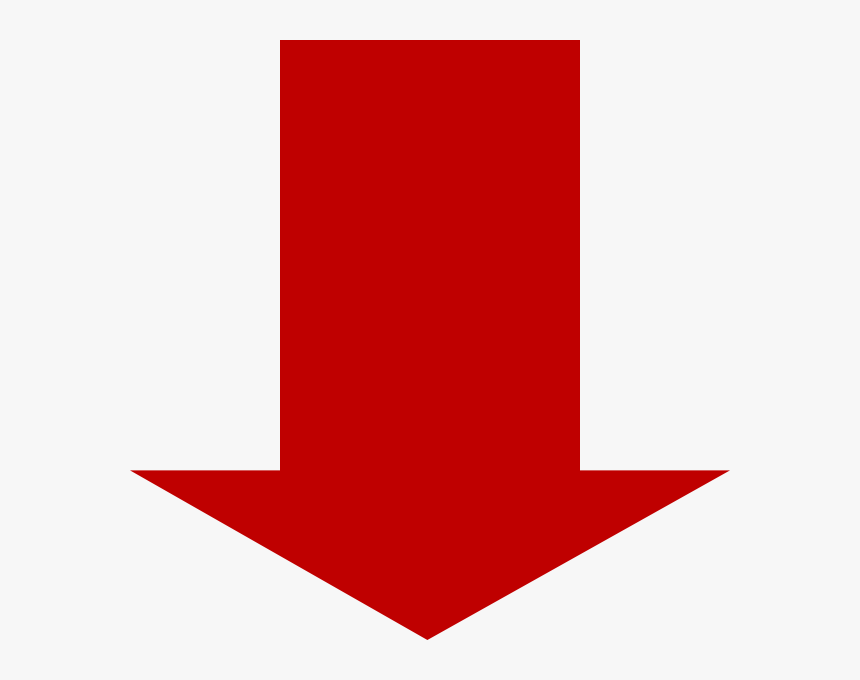 Red Down Arrow Clip Art - Red Arrow Down Png, Transparent Png, Free Download