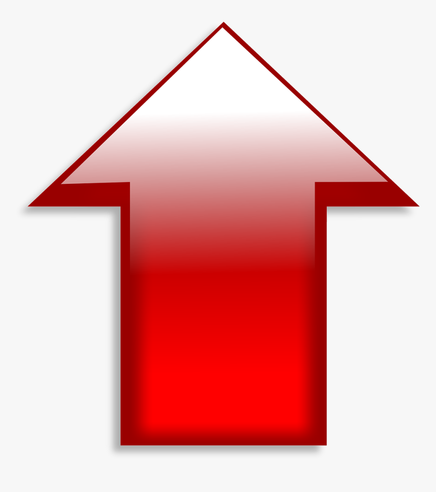 Up, Arrow, Red, Symbol, Sign, Direction, Icon, Design - Yukarı Ok Işareti Png, Transparent Png, Free Download