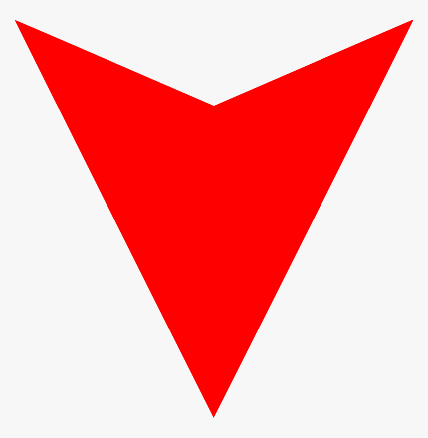 Red Arrow Down - Down Arrow Png, Transparent Png, Free Download