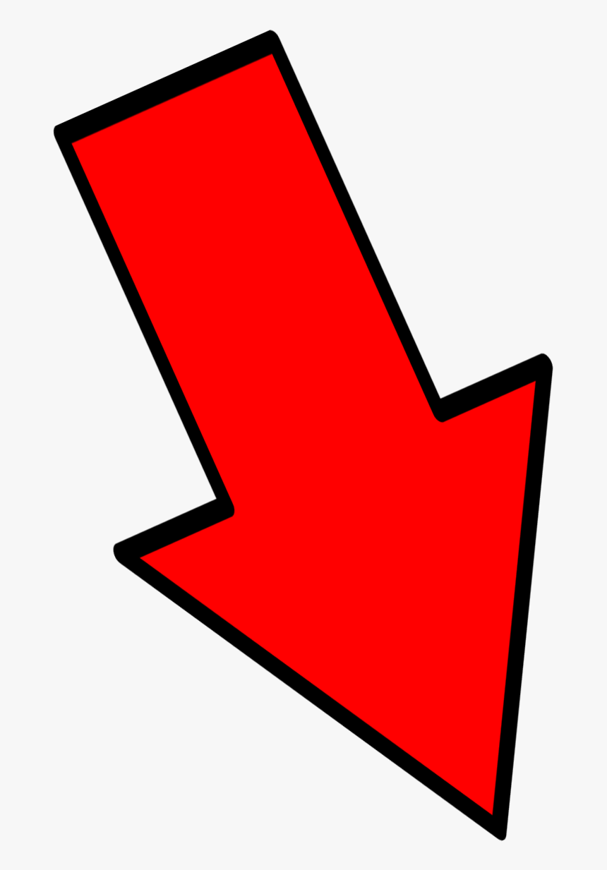 Red Down Arrow Png - Red Arrow Down Right, Transparent Png, Free Download