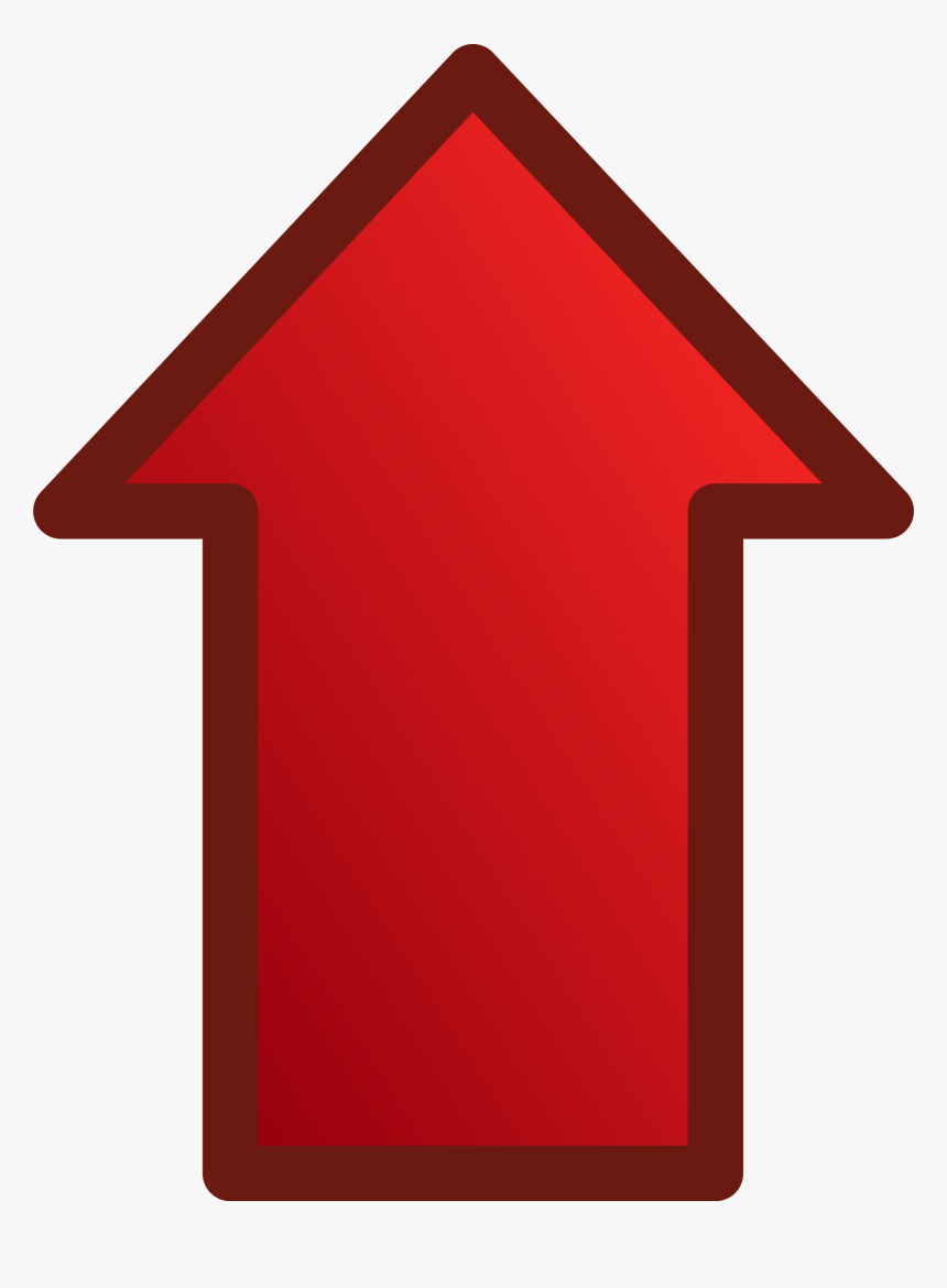 Up Arrow Clipart - Red Arrow Pointing Up, HD Png Download, Free Download