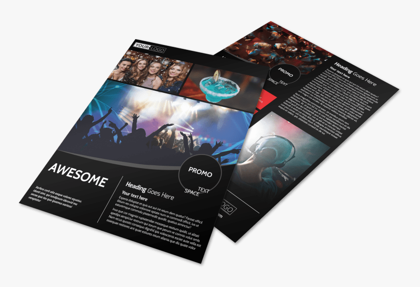 Popular Night Club Flyer Template Preview - Flyer, HD Png Download, Free Download