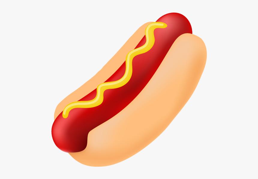 Cartoon Hot Dog Clipart - Transparent Background Hot Dog Clipart, HD Png Download, Free Download