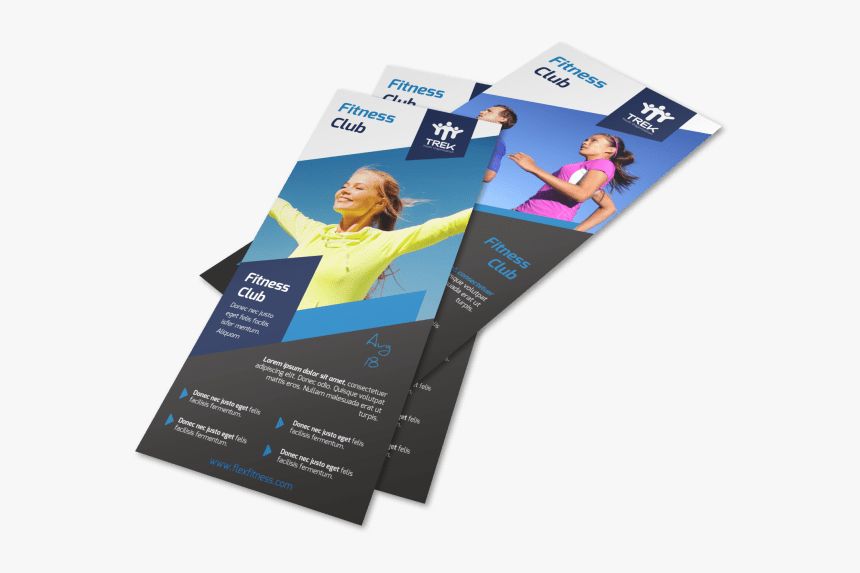 Fitness Club Flyer Template Preview - Flyer, HD Png Download, Free Download