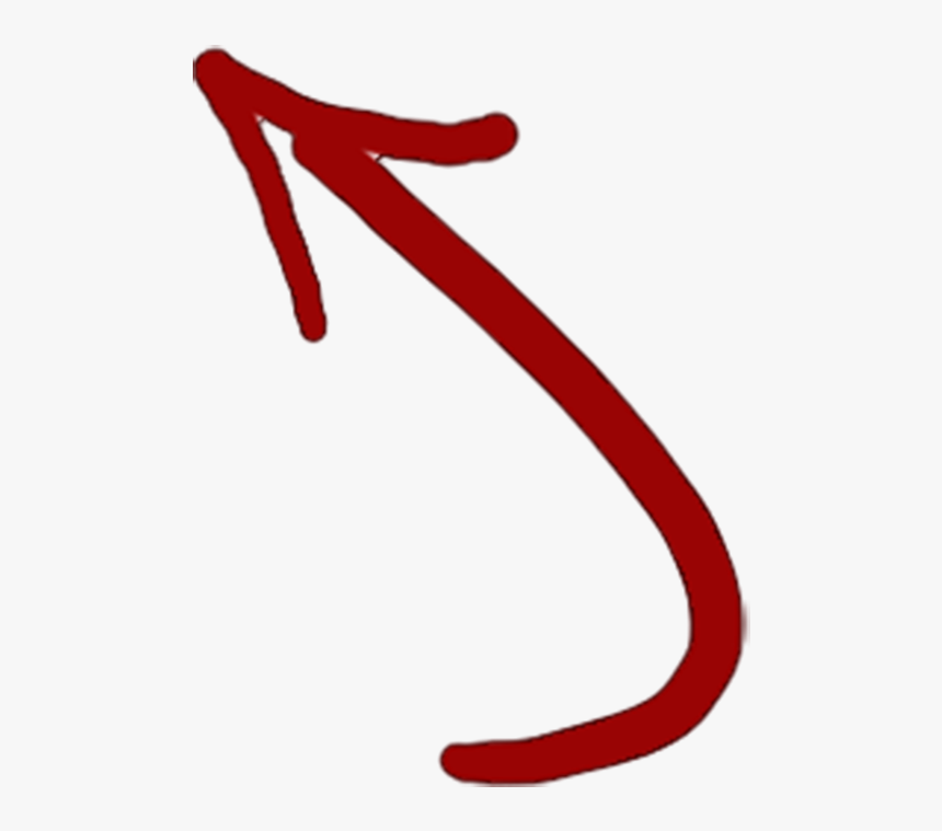 Hand Drawn Arrow Clipart - Red Hand Drawn Arrow Png, Transparent Png, Free Download