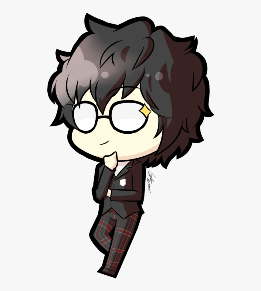 Transparent Bored Audience Clipart - Ren Persona 5 Chibi, HD Png Download, Free Download