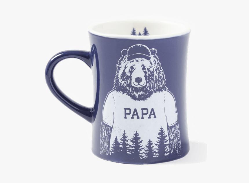 Papa Diner Mug - Life Is Good Papa Bear Shirt, HD Png Download, Free Download