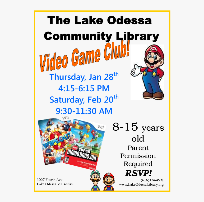 Transparent Lake Png - Video Game Club Flyer, Png Download, Free Download