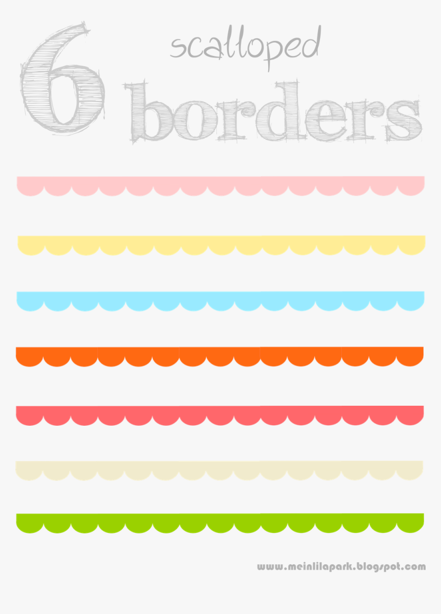 Free Scalloped Border Png, Transparent Png, Free Download