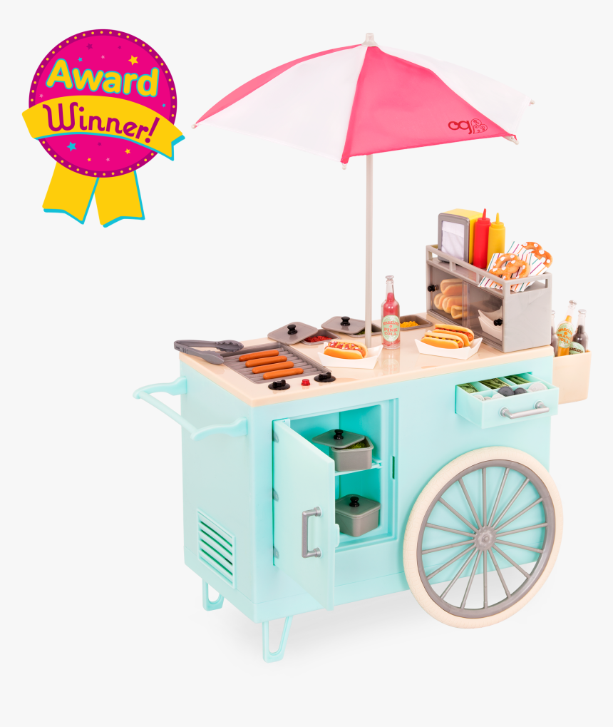 Retro Hot Dog Cart For 18-inch Dolls - Our Generation Hot Dog Cart, HD Png Download, Free Download