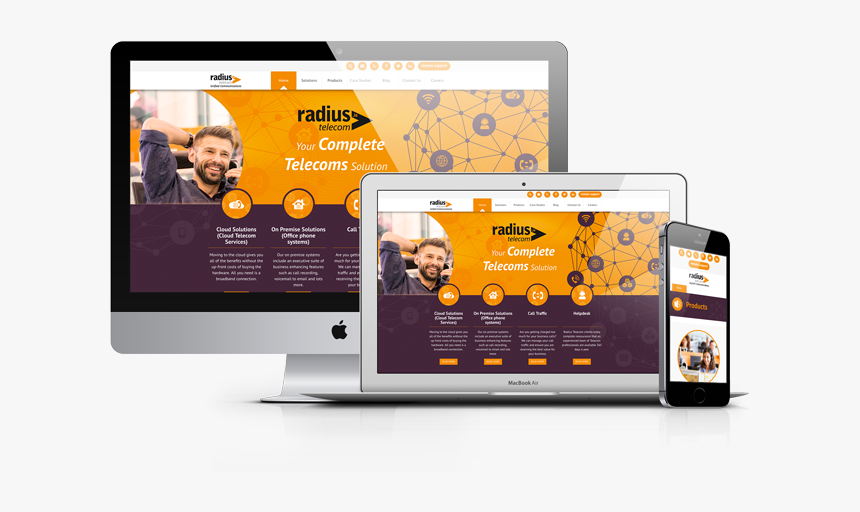 Telecoms Company Website - Company Web Site Png, Transparent Png, Free Download