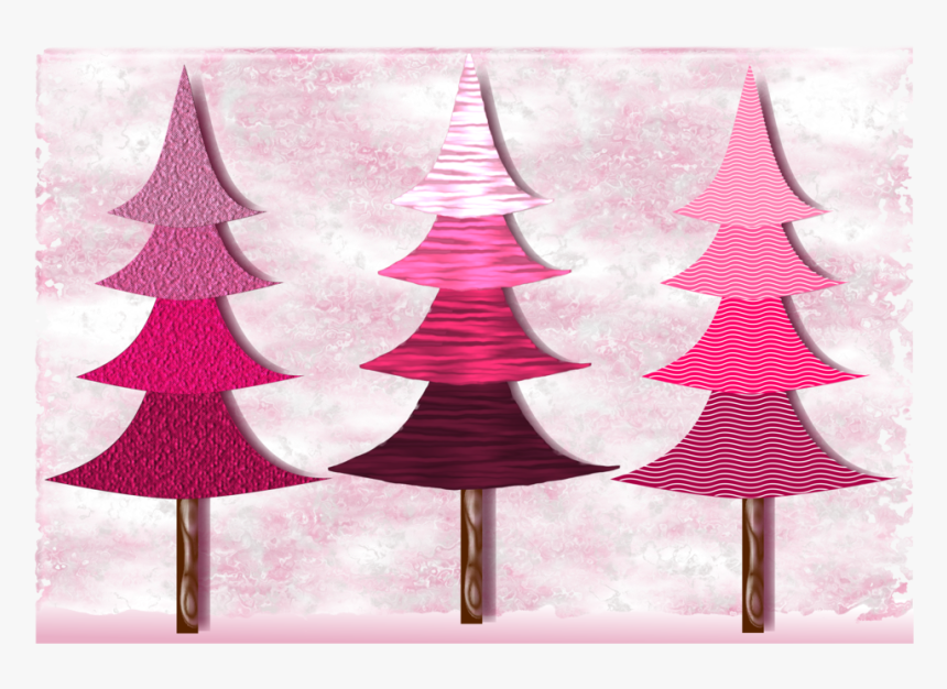 Pink,christmas Decoration,christmas Tree - Christmas Tree Png Clipart Pink, Transparent Png, Free Download