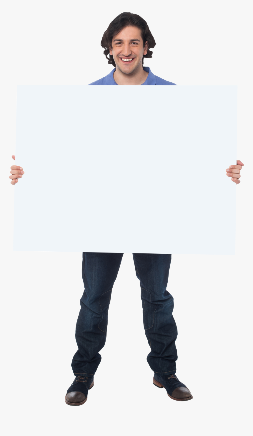 Men Holding Banner Png Stock Photo - Hold Banner Png, Transparent Png, Free Download