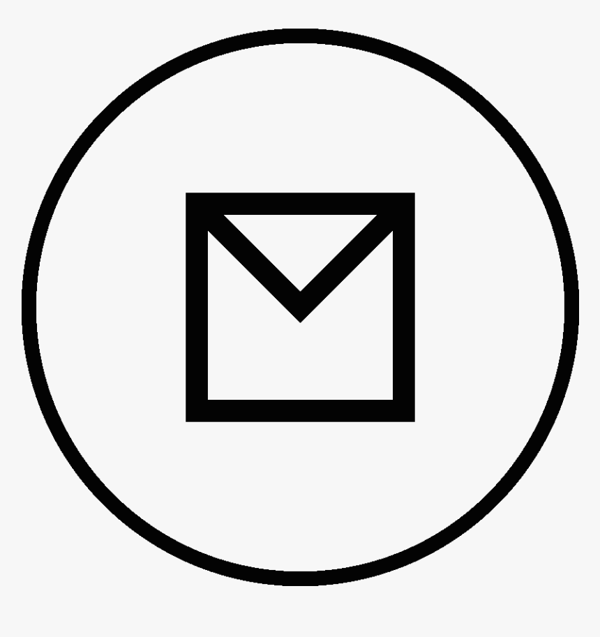 Circle Email Png Icon, Transparent Png, Free Download
